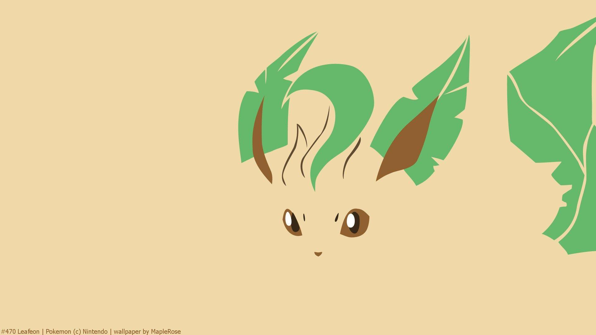 Eevee, Eeveelution, Leafeon, Minimal, Pokemon HD Wallpapers