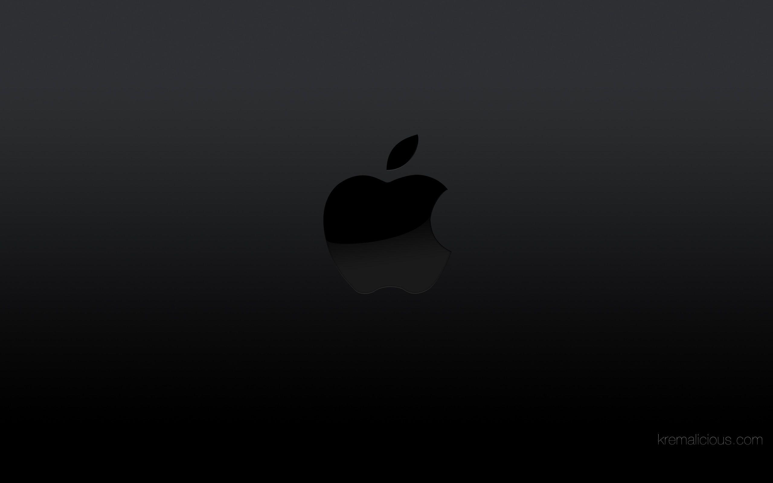Apple Logo Black Backgrounds Wallpaper Cave