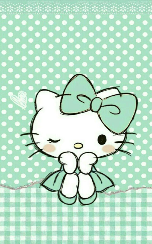 Wallpapers Hello Kitty Hijau Wallpaper Cave
