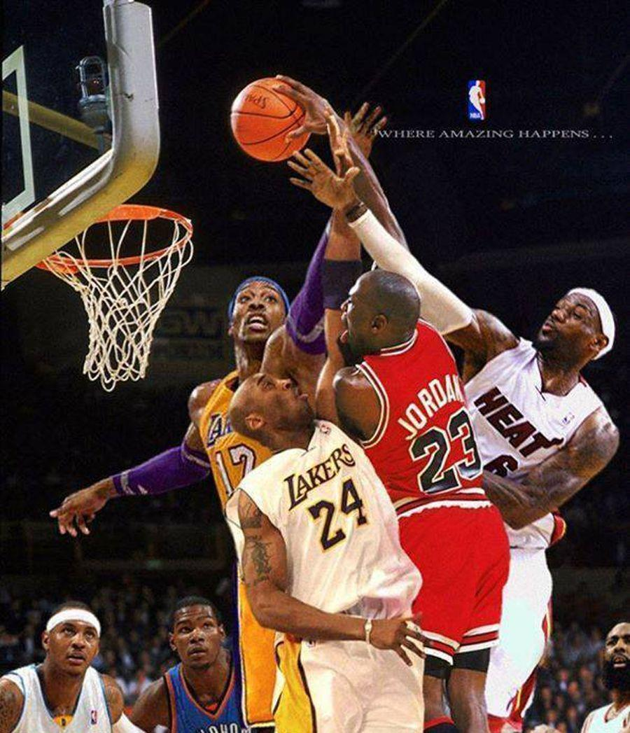 Kobe Bryant Lebron James And Michael