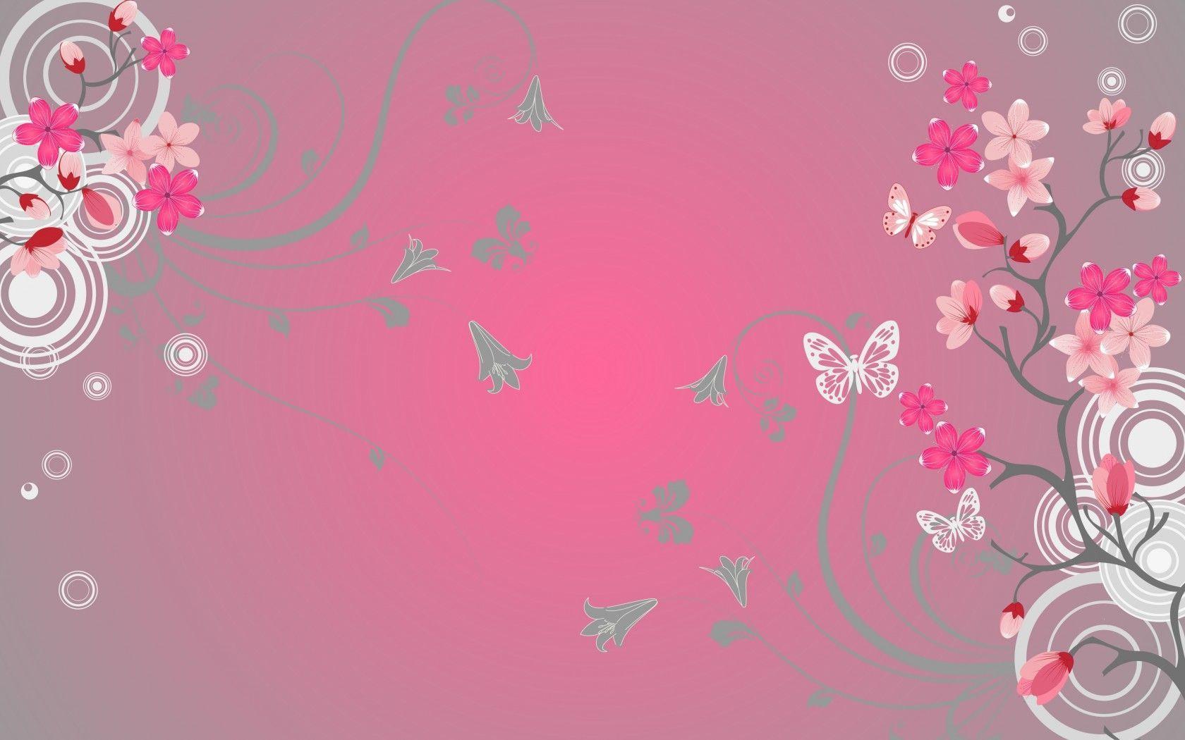 Pink Butterfly Wallpapers Desktop - Wallpaper Cave