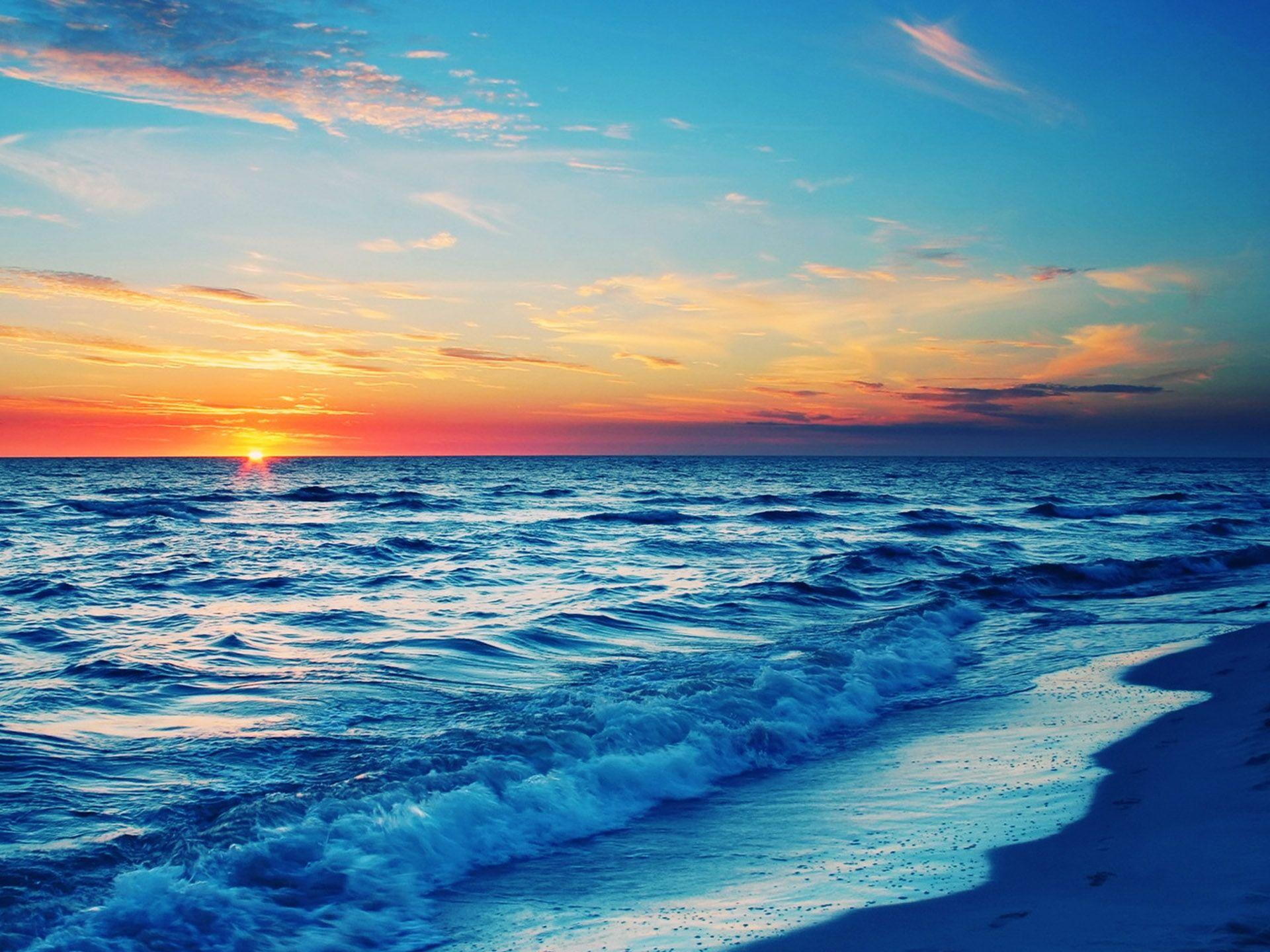 Beautiful Ocean Sunset Wallpapers - Wallpaper Cave