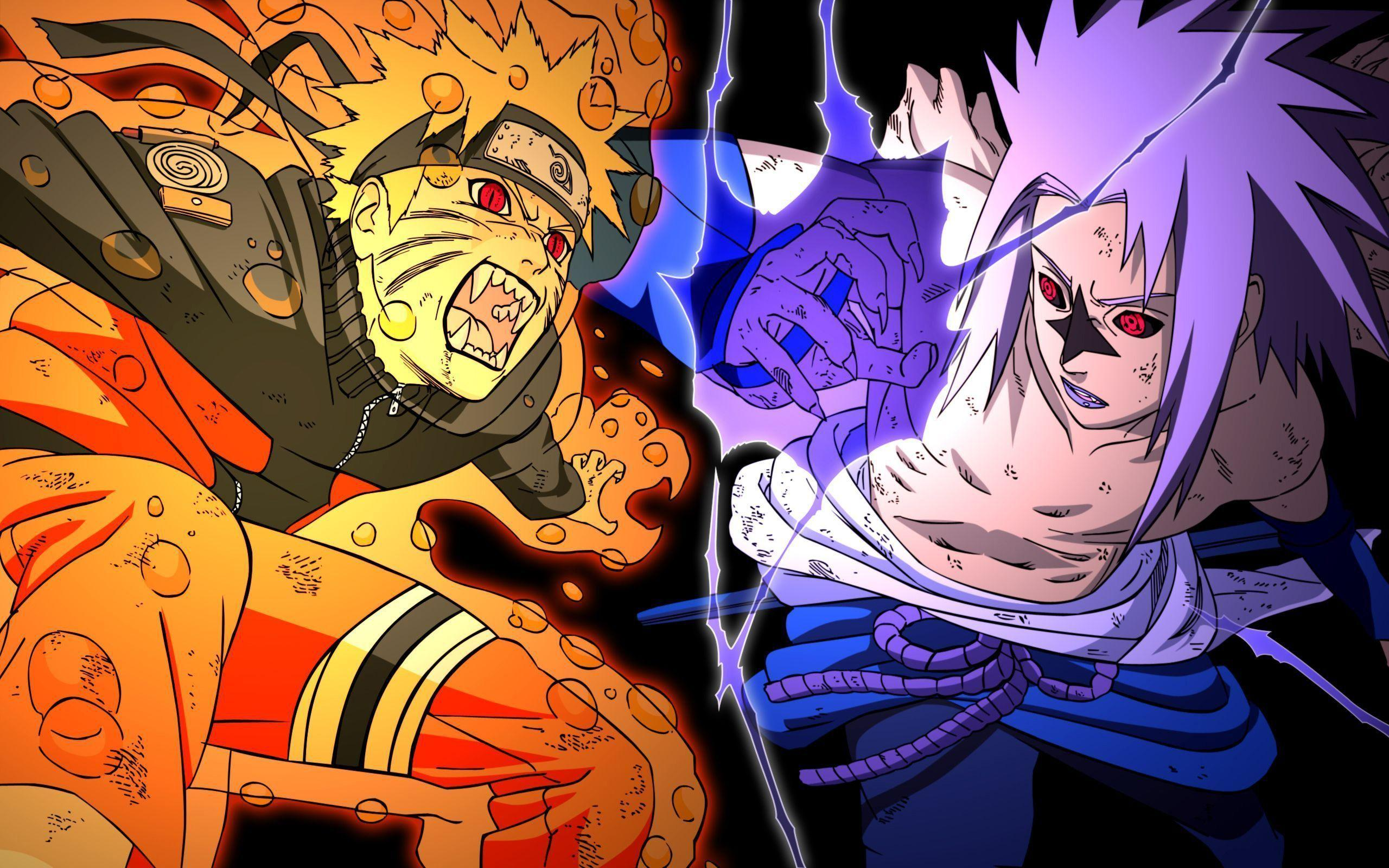 Sasuke Uchiha Vs Naruto Uzumaki Shippuden Wallpapers Wallpaper Cave