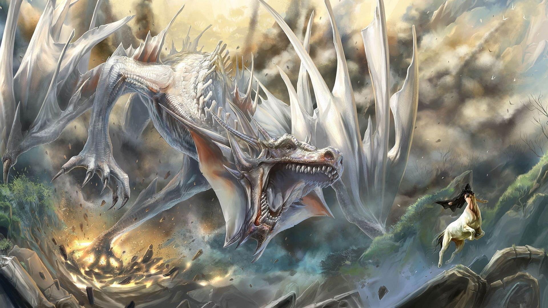 White Dragons Wallpapers Wallpaper Cave