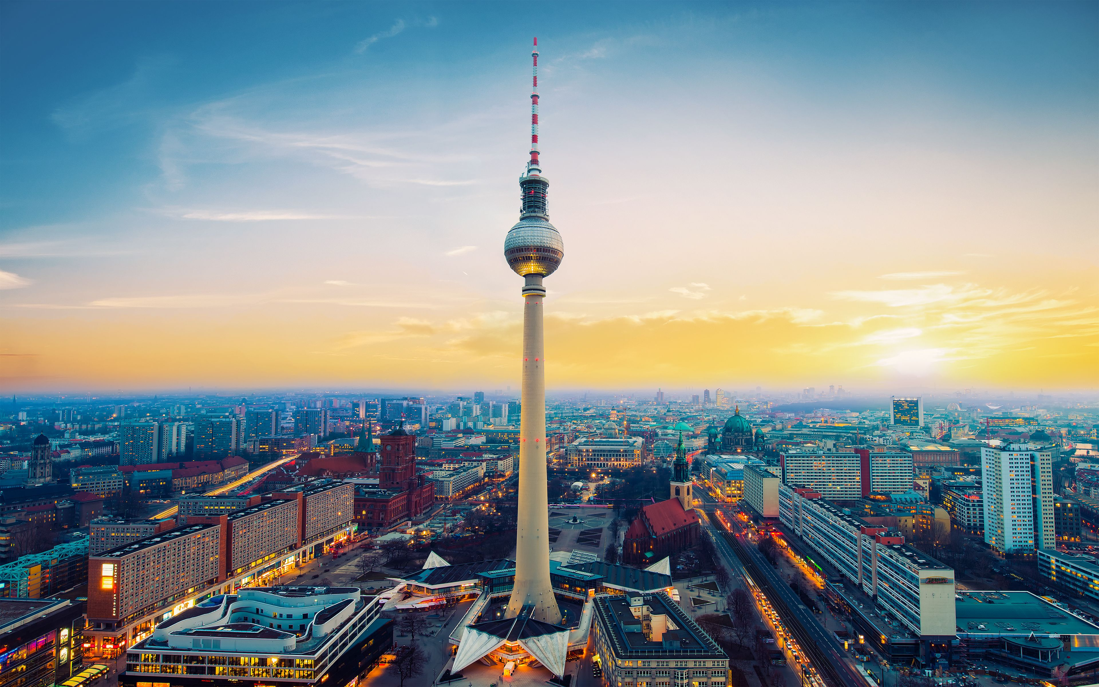 Fernsehturm Berlin TV Tower Germany wallpapers