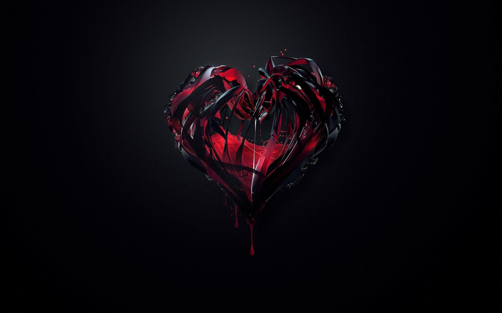 Red And Black Heart Wallpapers Wallpaper Cave