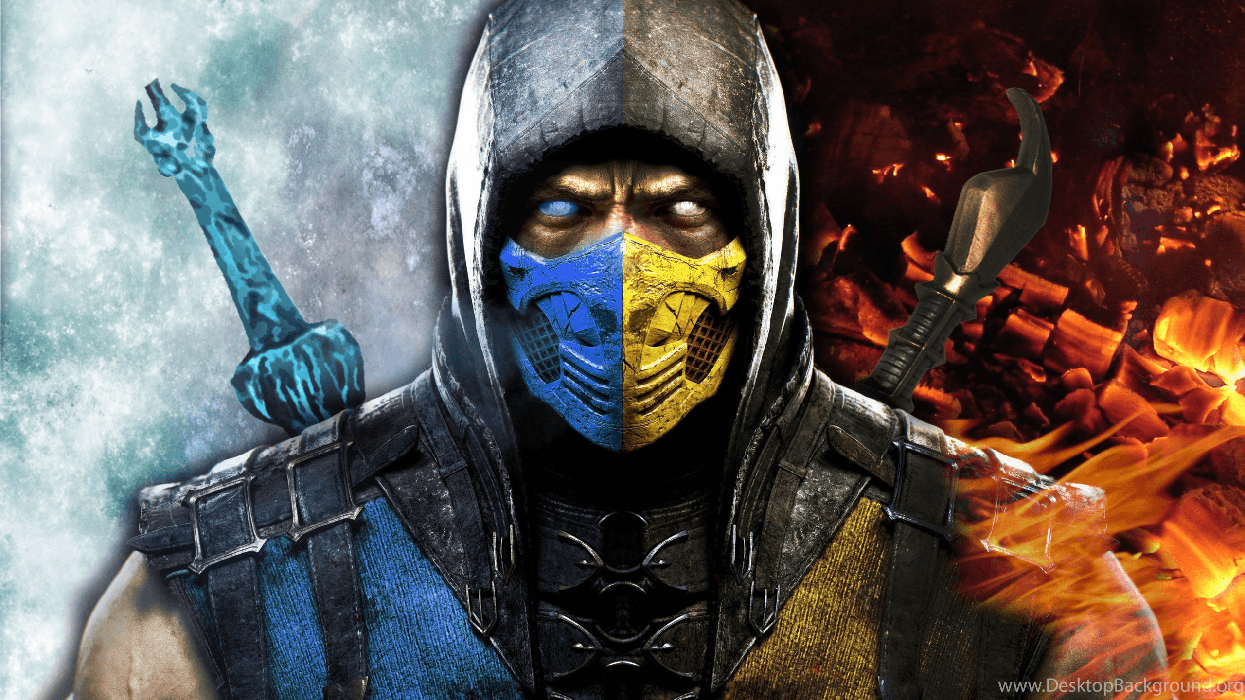 Scorpion Vs Sub Zero Mortal Kombat 9 Wallpapers Mobil
