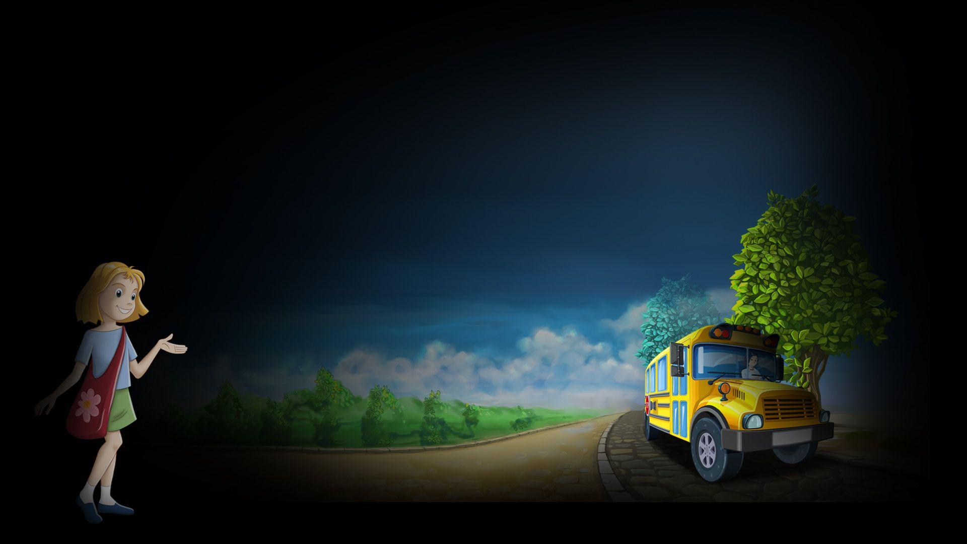 School Bus Fun Full HD Wallpapers and Backgrounds Image