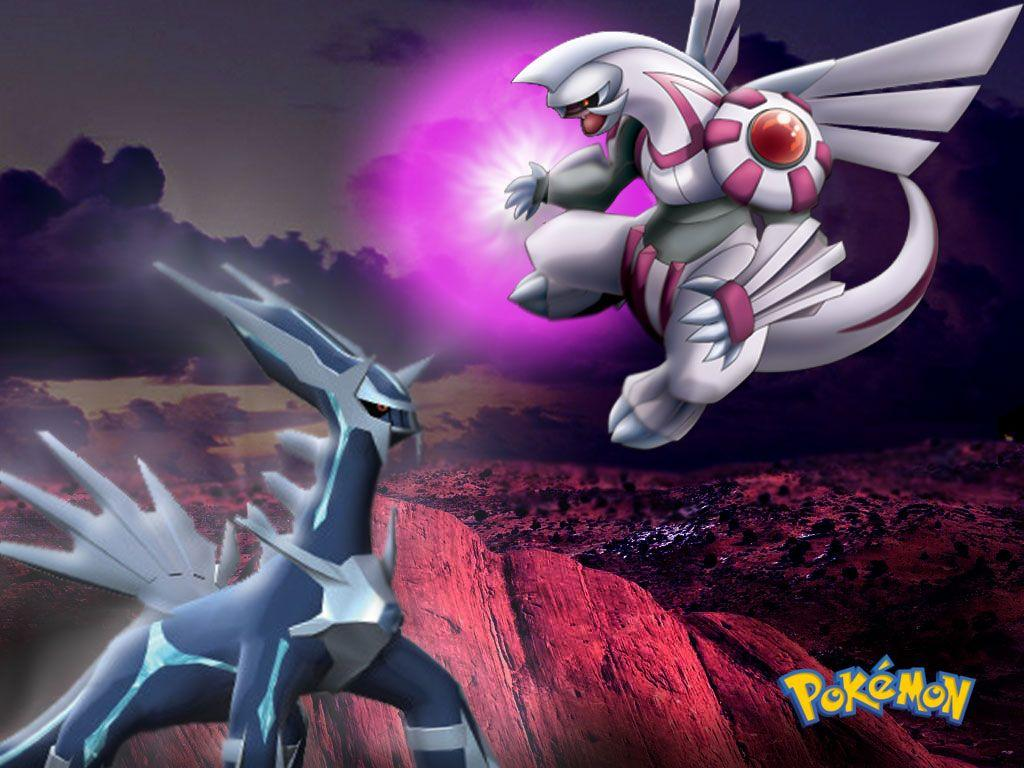 Wallpapers Pokemon Image Dialga Vs Palkia Darkrai Black White