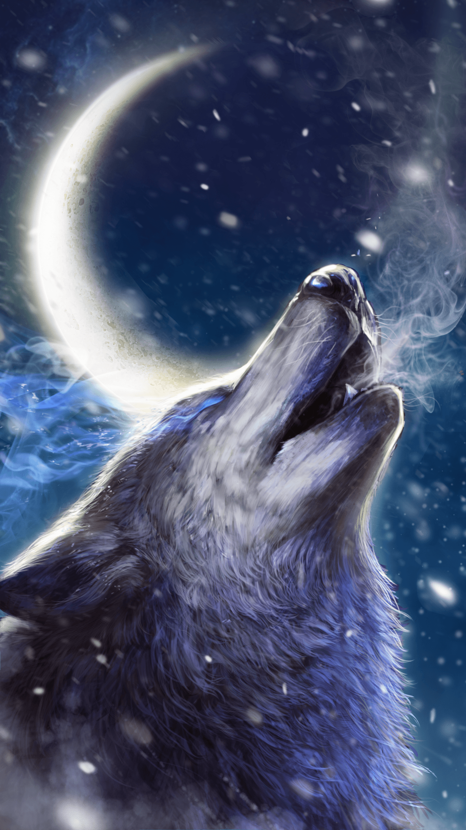 Anime Wolf Howling Wallpapers Wallpaper Cave