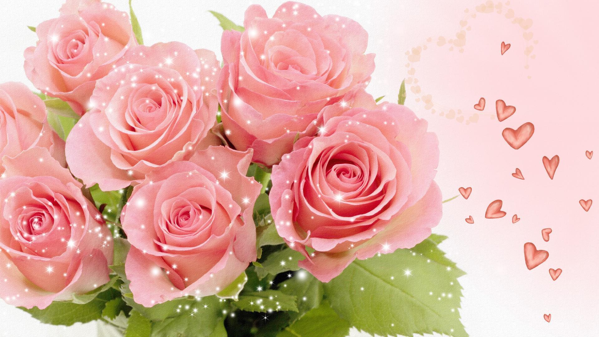 Интерактивная открытка розы
