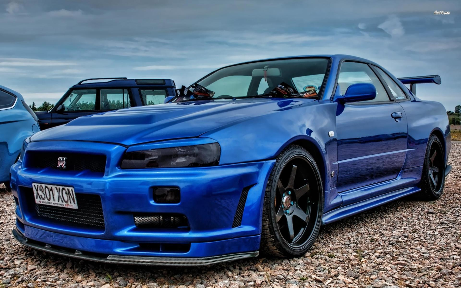 Blue Nissan Skyline Gt R R34 wallpaper Car wallpapers