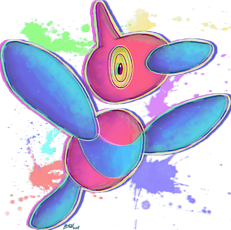 I drew Porygon-Z : pokemon