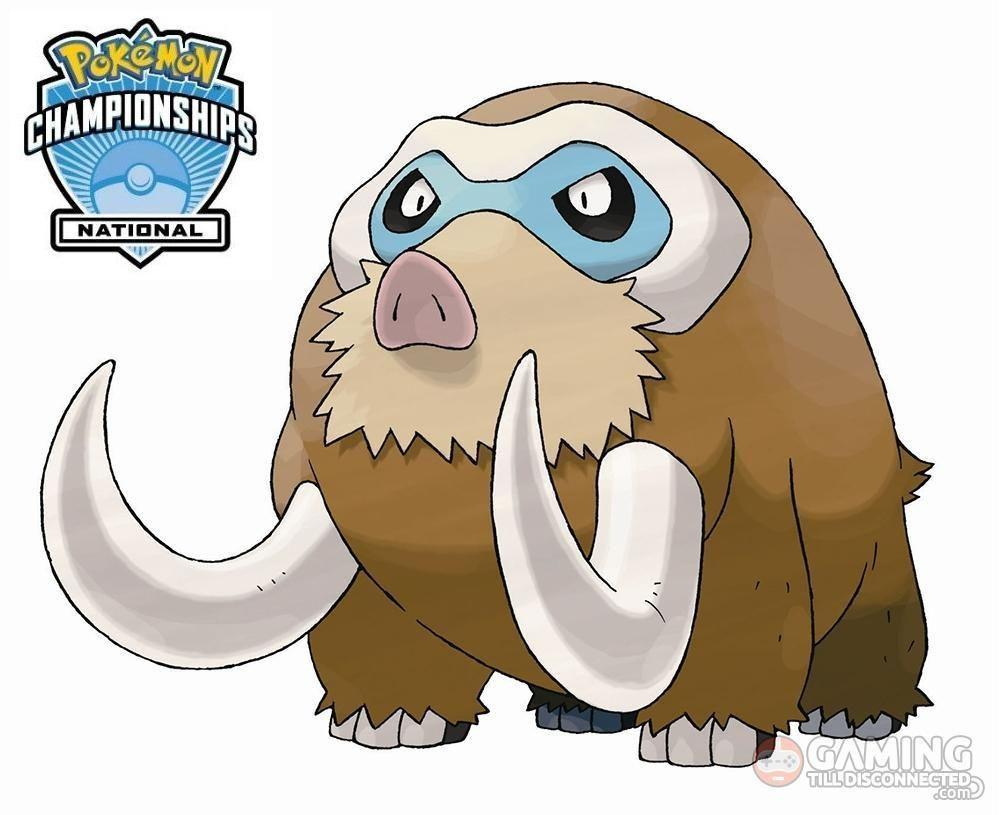 Level 50 Shiny Mamoswine Pokémon character will be distributed at