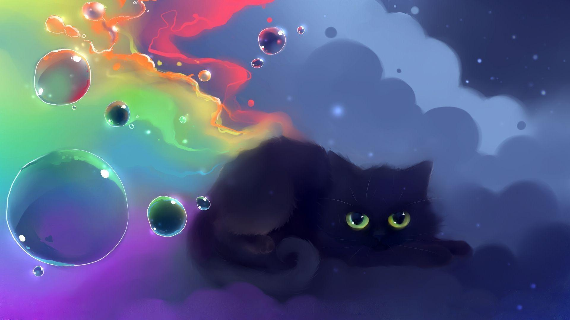 Kawaii Black Cat Halloween Wallpapers Wallpaper Cave