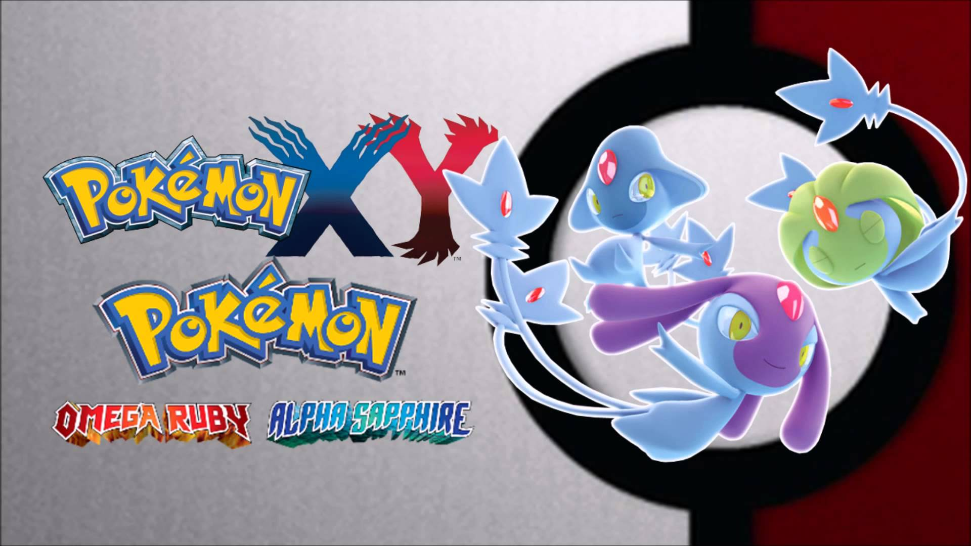 Pokemon X/Y/ORAS - Vs. Mesprit, Uxie, and Azelf HD Remaster - YouTube