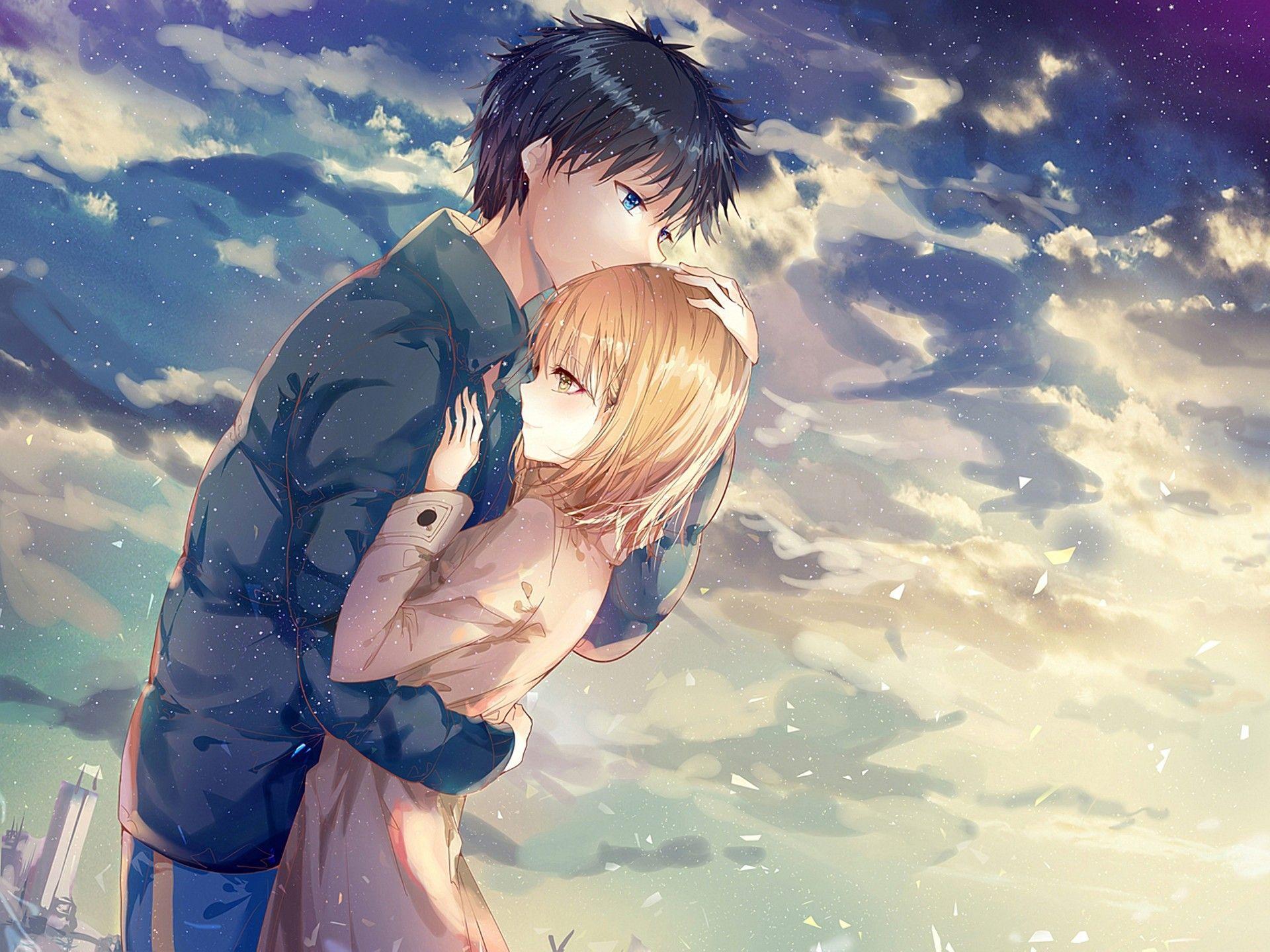 Gambar Anime Couple Terpisah Romantis Nusagates