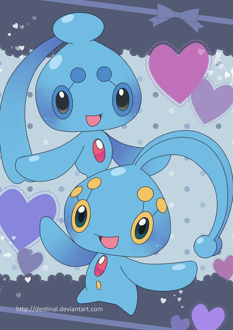 Manaphy and Phione Poster by Crystal