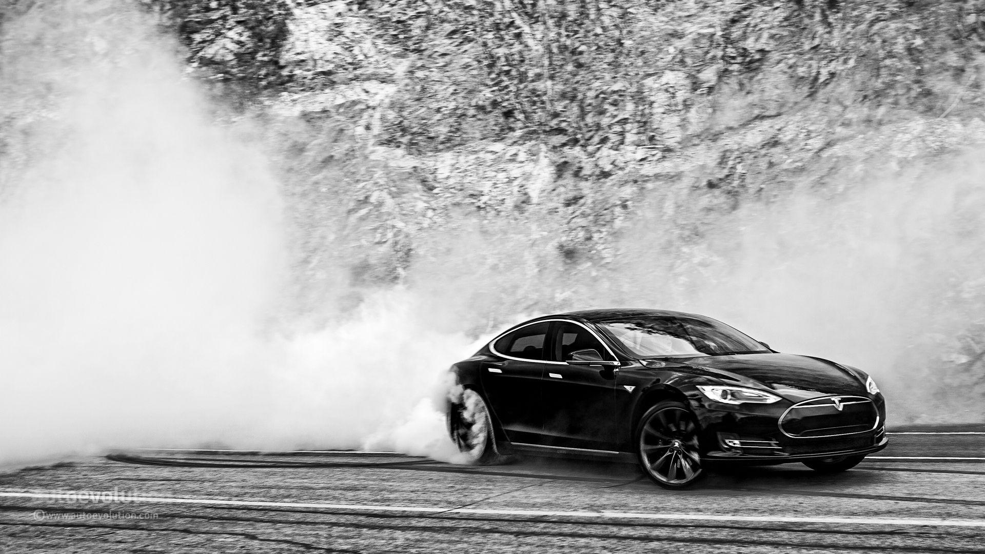 Tesla Model S Doing Monster Burnouts: HD Wallpapers - autoevolution