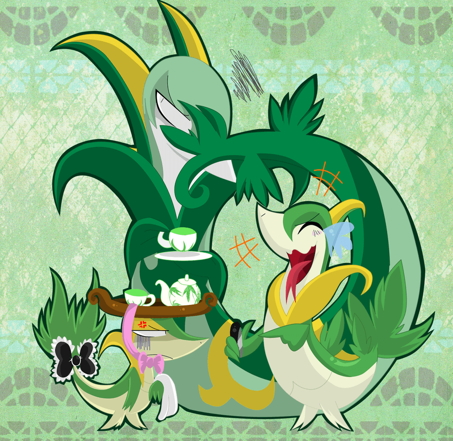Snivy is Not Amused by SoftMonKeychains on DeviantArt