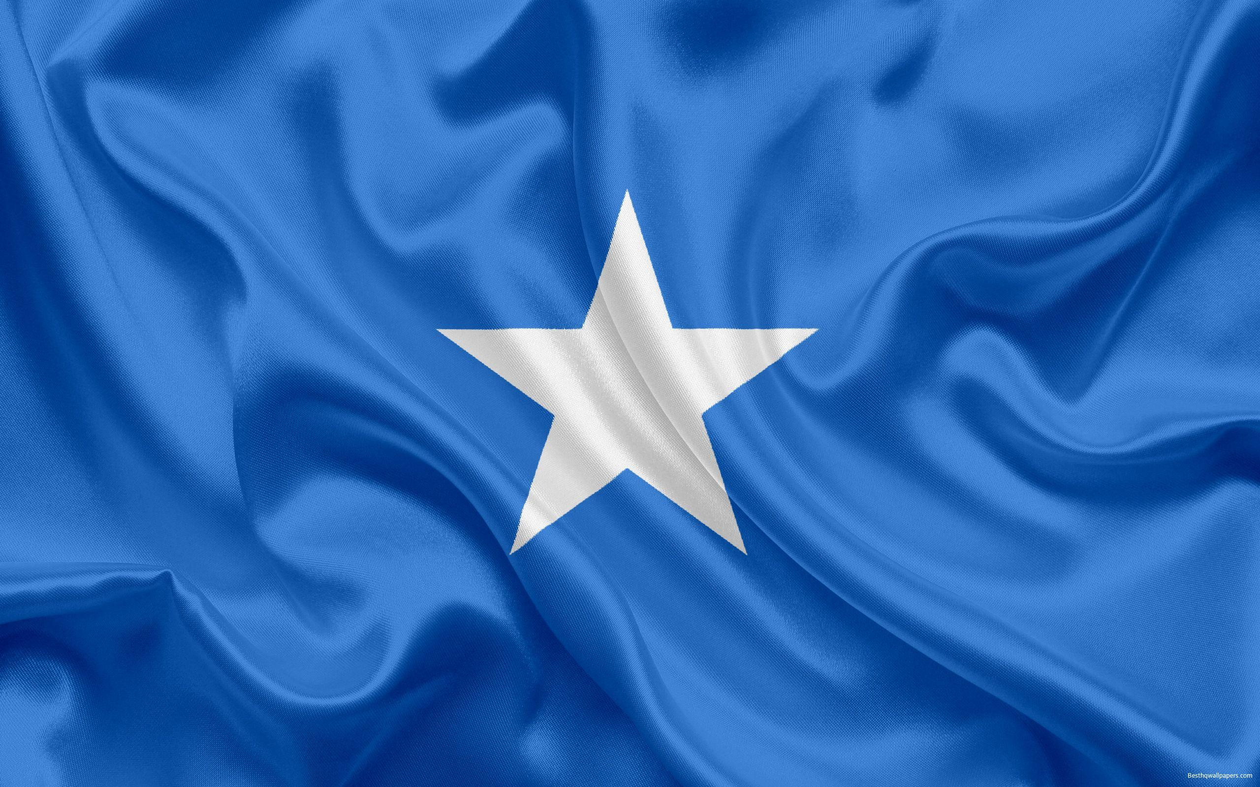 Download wallpapers Somali flag, national flag, Somalia, Africa