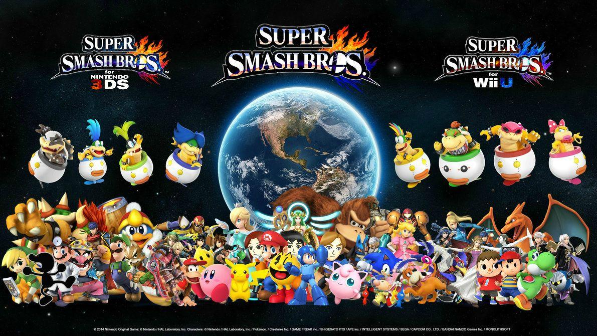 Super Smash Bros Wallpapers 3ds Wallpaper Cave