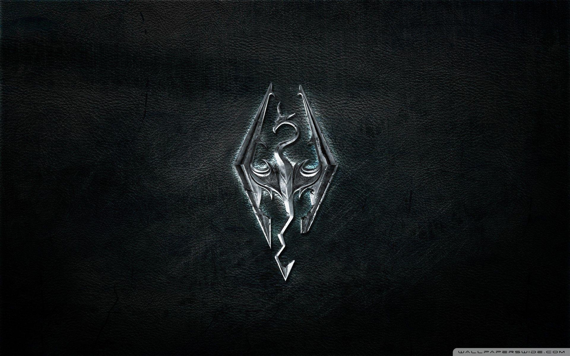 Skyrim Logo Wallpapers Wallpaper Cave