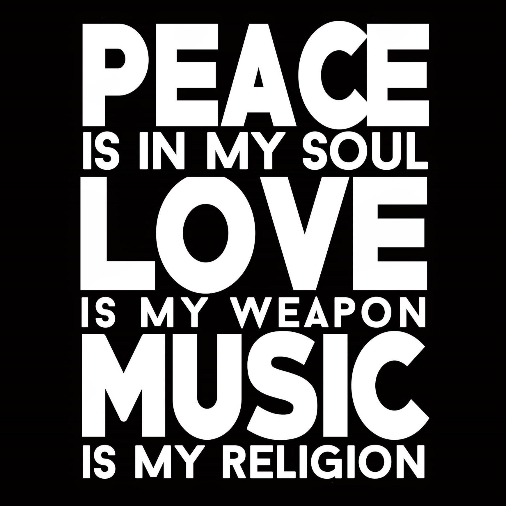 Hd Wallpapers Of Peace Love Music | Newwallpapers.org