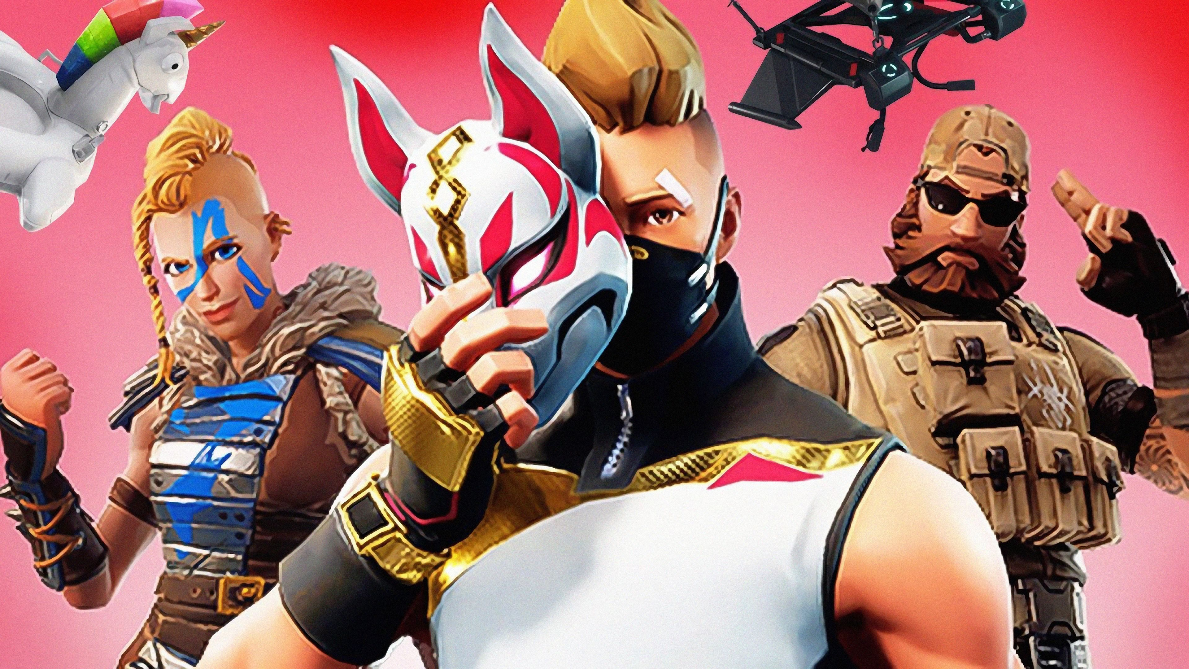 Drift 4K Wallpapers Huntress Sledgehammer Fortnite Battle Royale
