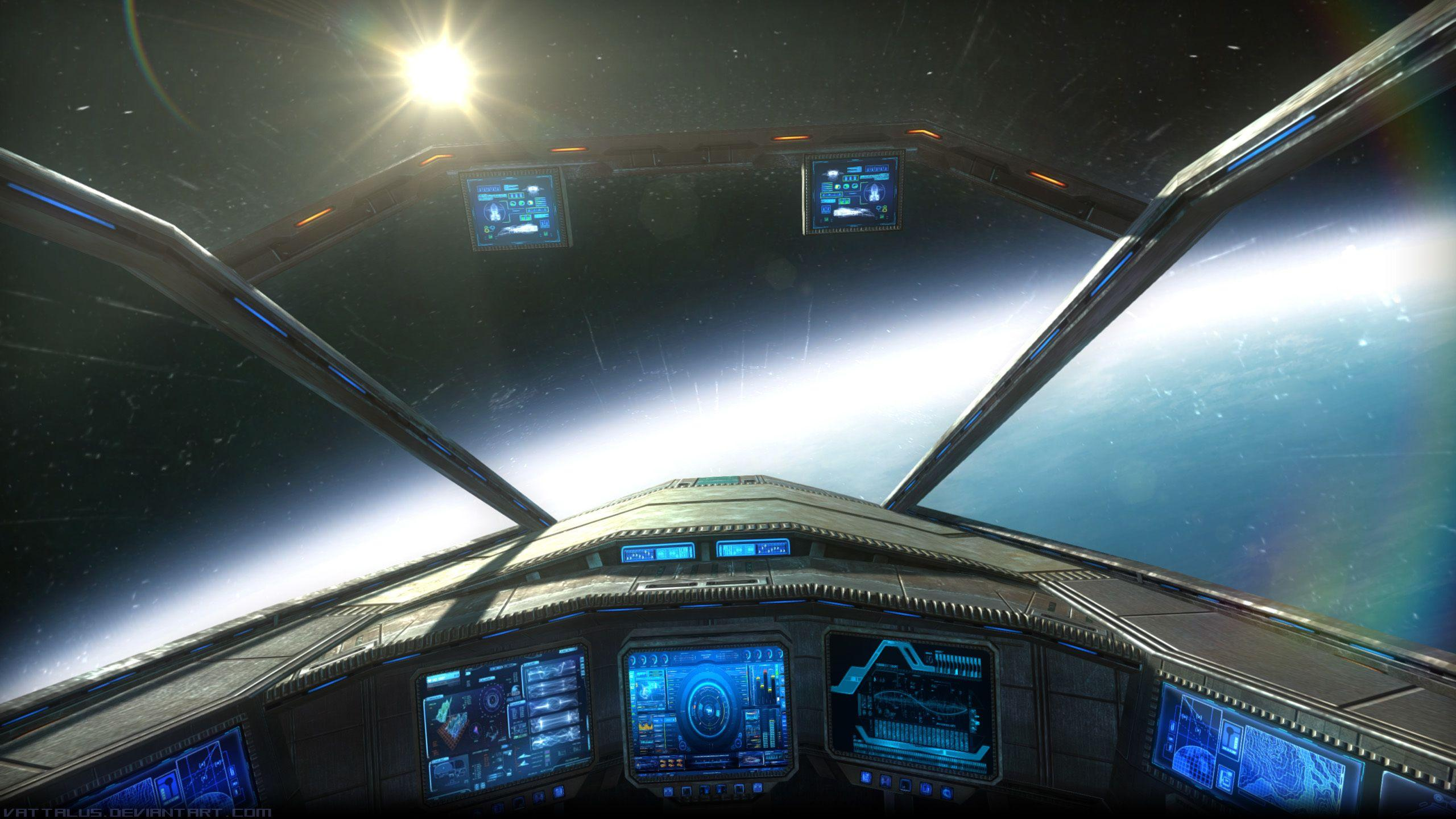 Image of Space Ship Cockpit