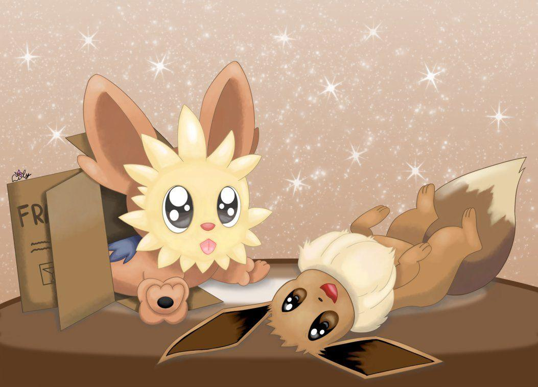 Lillipup and Eevee by DragonfireMagic