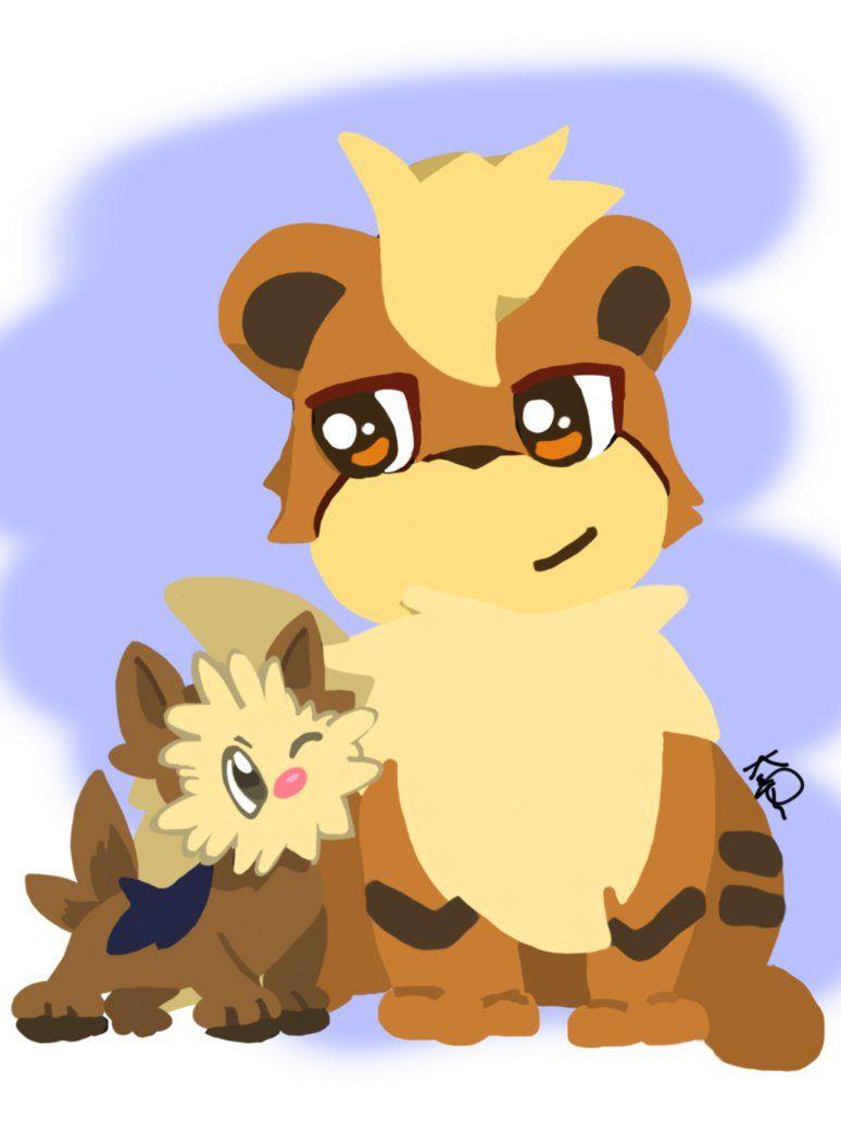 Growlithe and Lillipup! by GamerGirlArtt