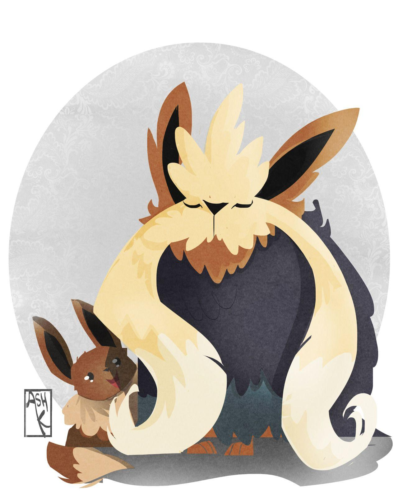 Favorite Normal Type - Stoutland & Eevee ... Drawn by AshK's ...