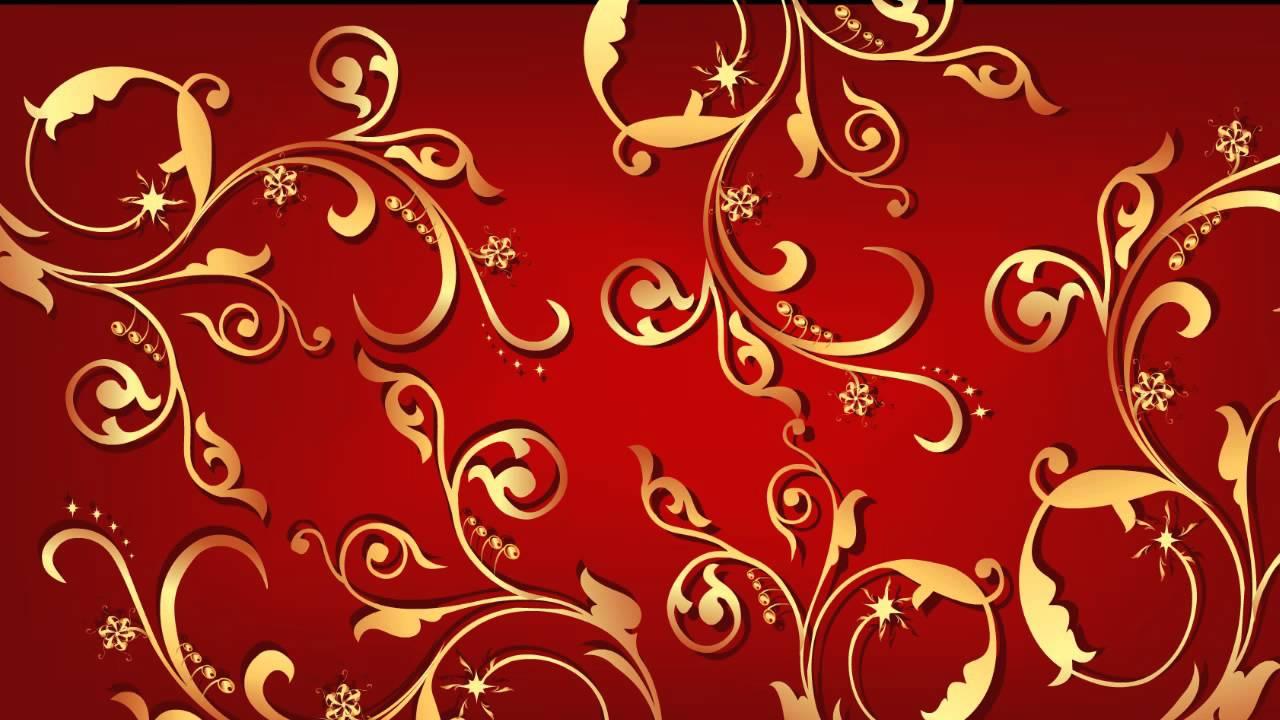 Красный фон с золотыми узорами