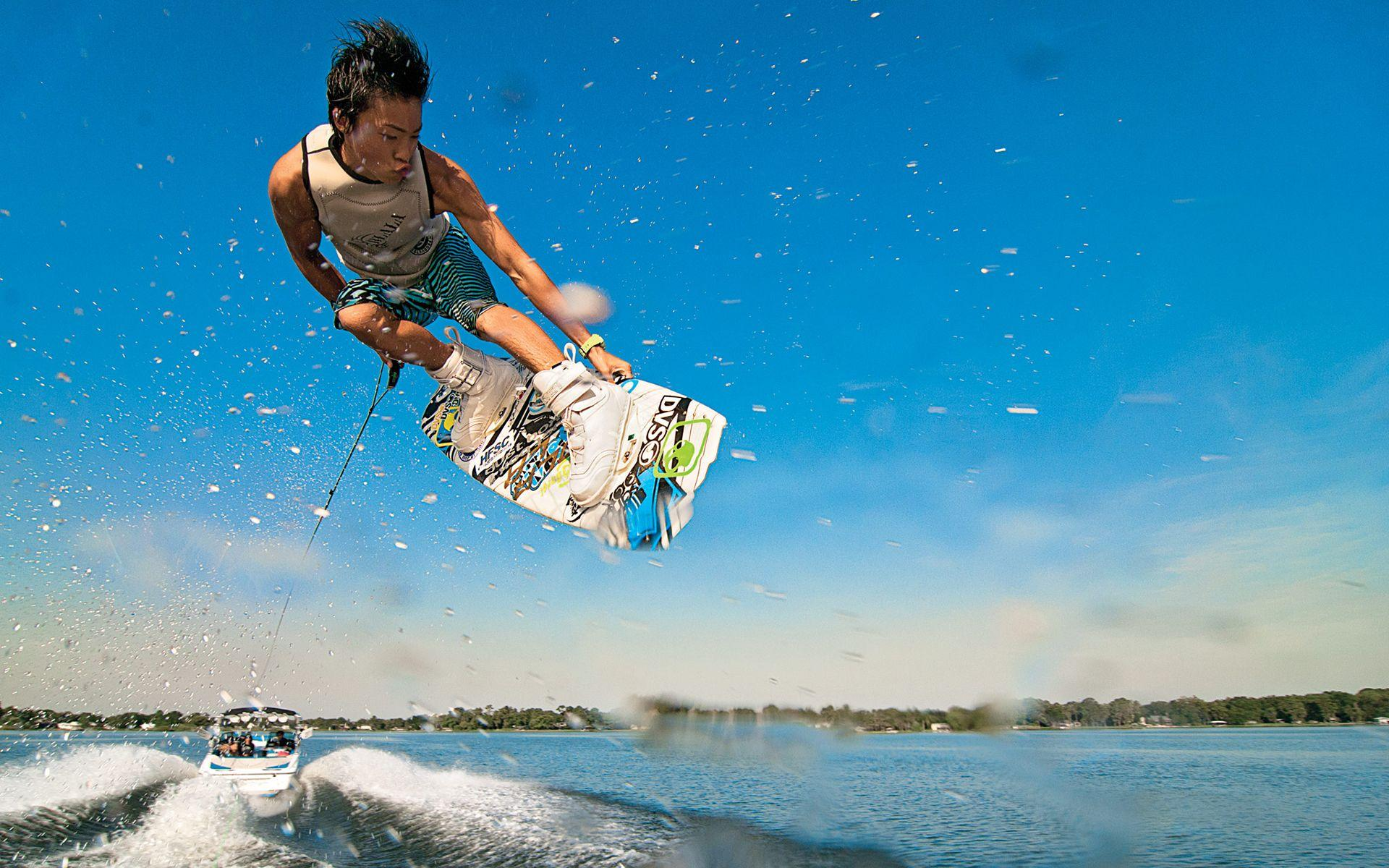 Wakeboarding Jump Full HD Wallpapers and Backgrounds Image