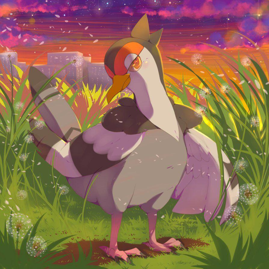 Pokemon- Tranquill and dandelions by Miharuruu on DeviantArt