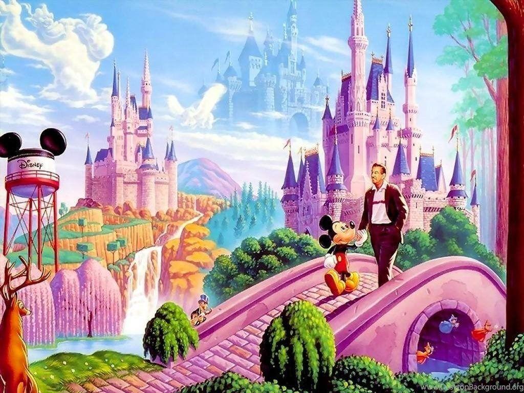 Vehicles For Cartoon Disney Castle Desktop Background
