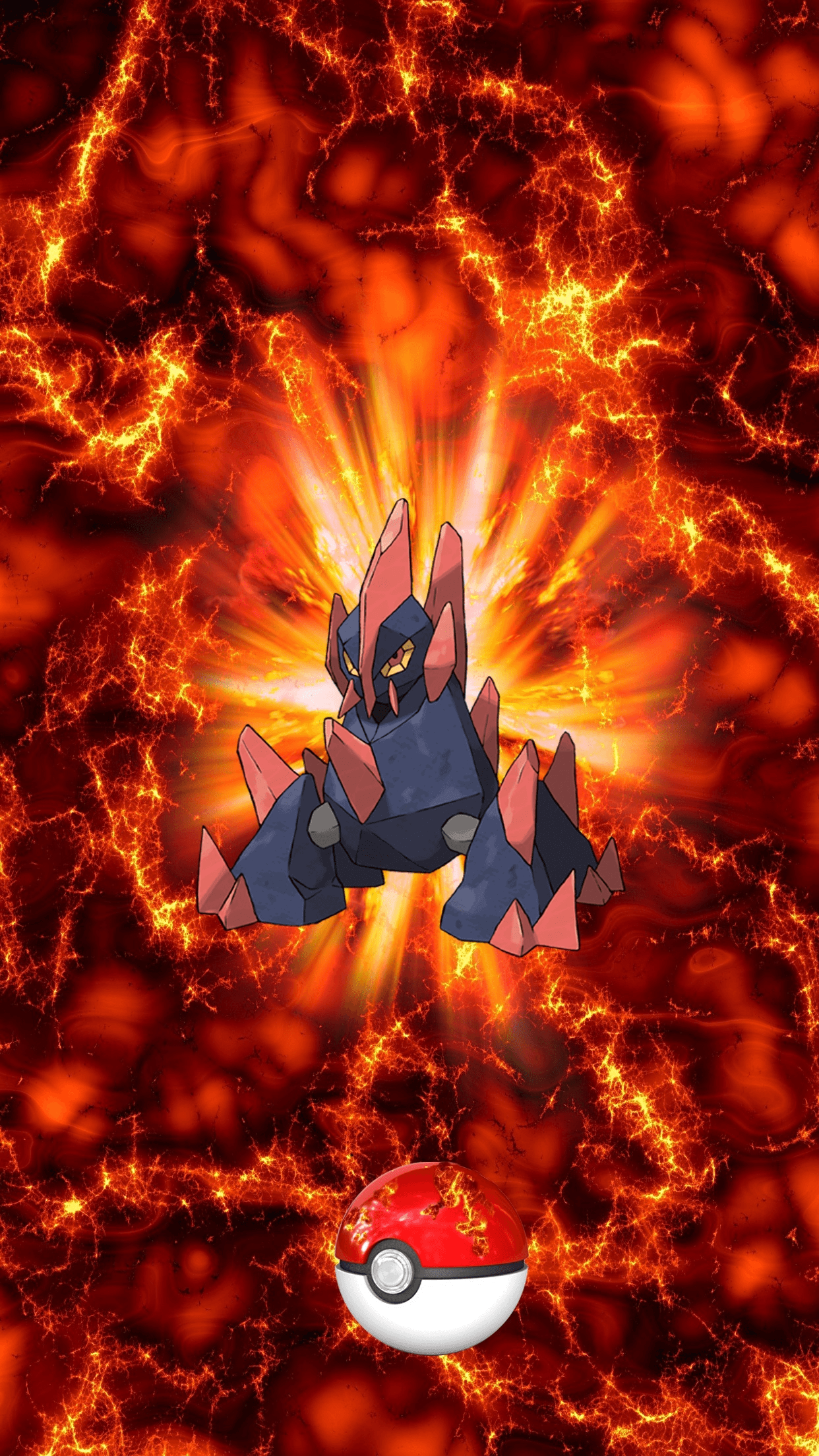 526 Fire Pokeball Gigalith 95 Gigaiath 94 Boldore | Wallpaper