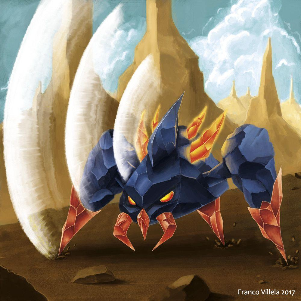 ArtStation - Boldore fan art for Art Pokedex Mx, Franco Villela