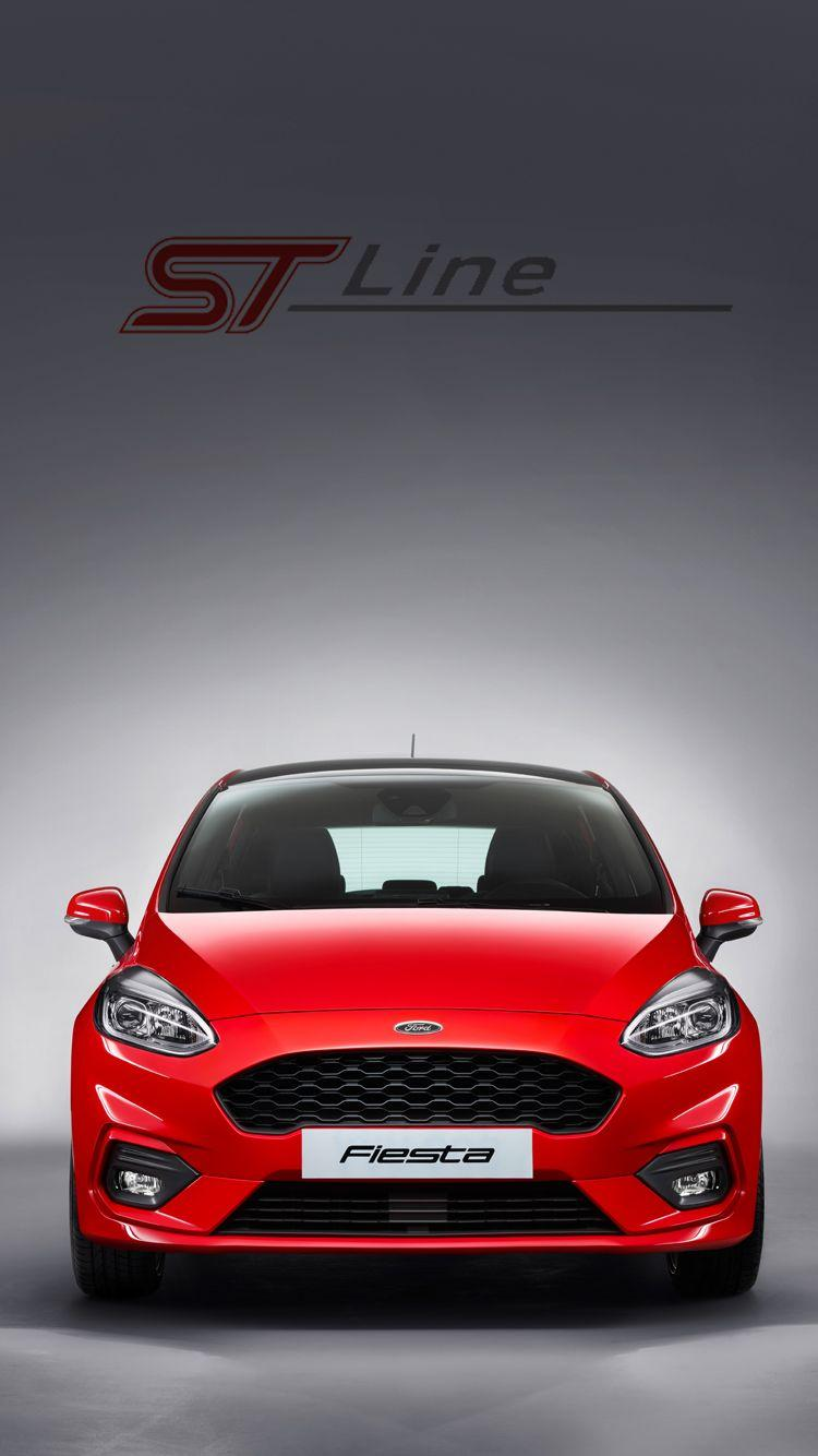 Universal Phone Wallpapers/ Backgrounds Race Red Fiesta ST