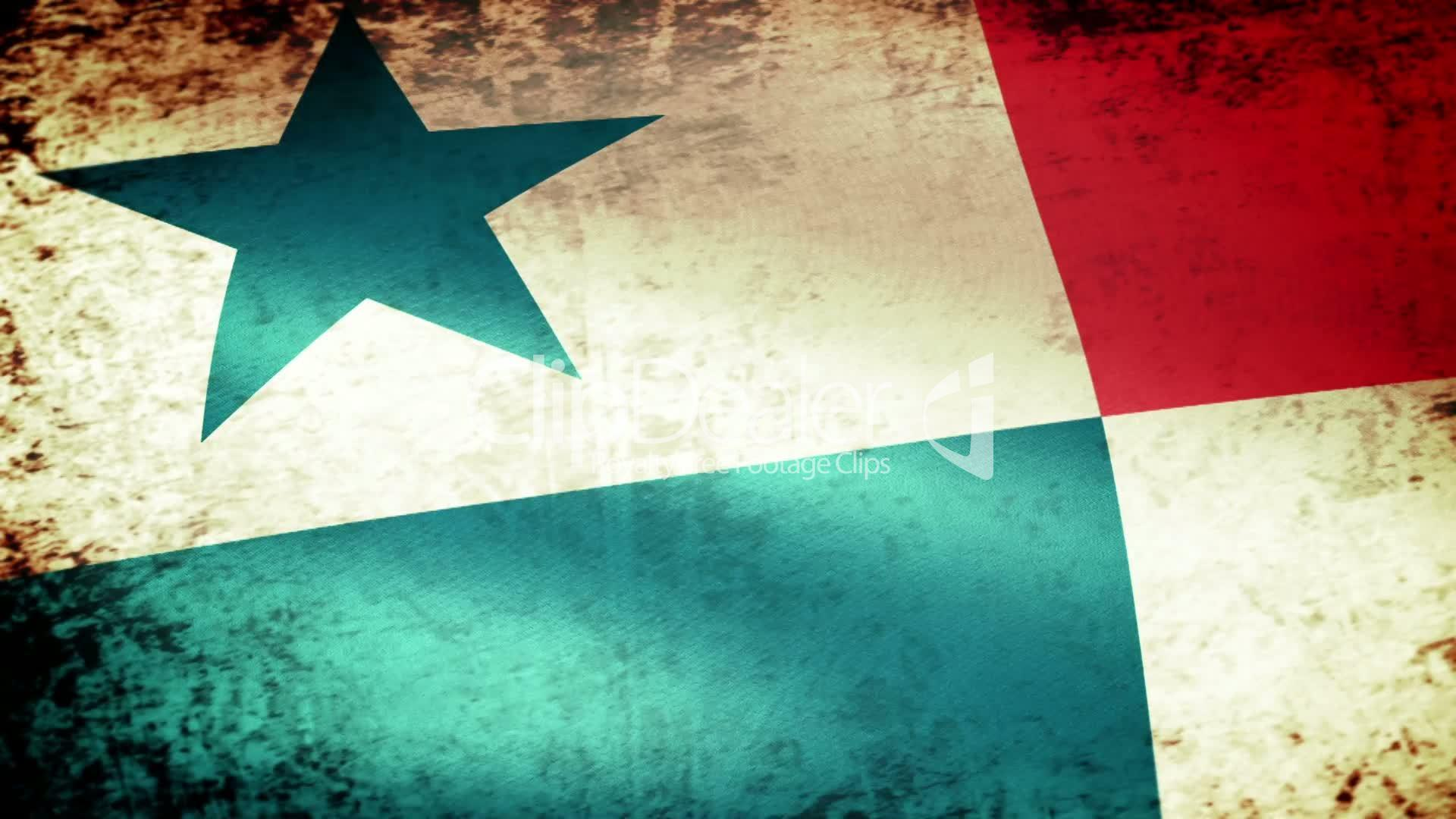 Panama Flag Waving, grunge look: Royalty-free video and stock footage