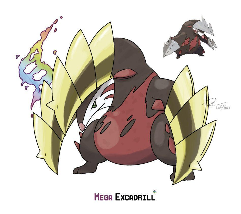 Mega Excadrill by LeafyHeart on DeviantArt