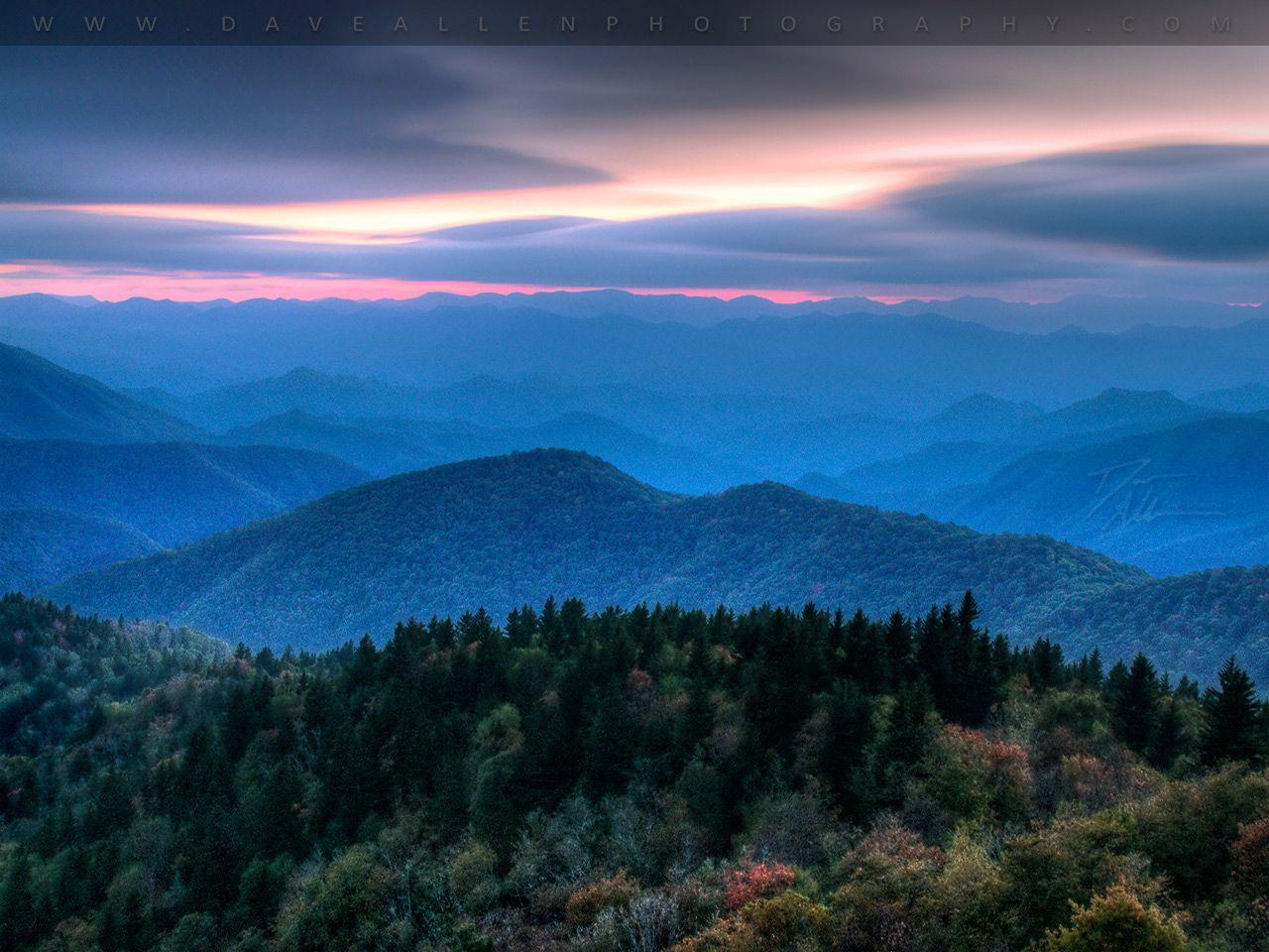 Blue Ridge Autumn Evening Free Desktop Wallpapers Image