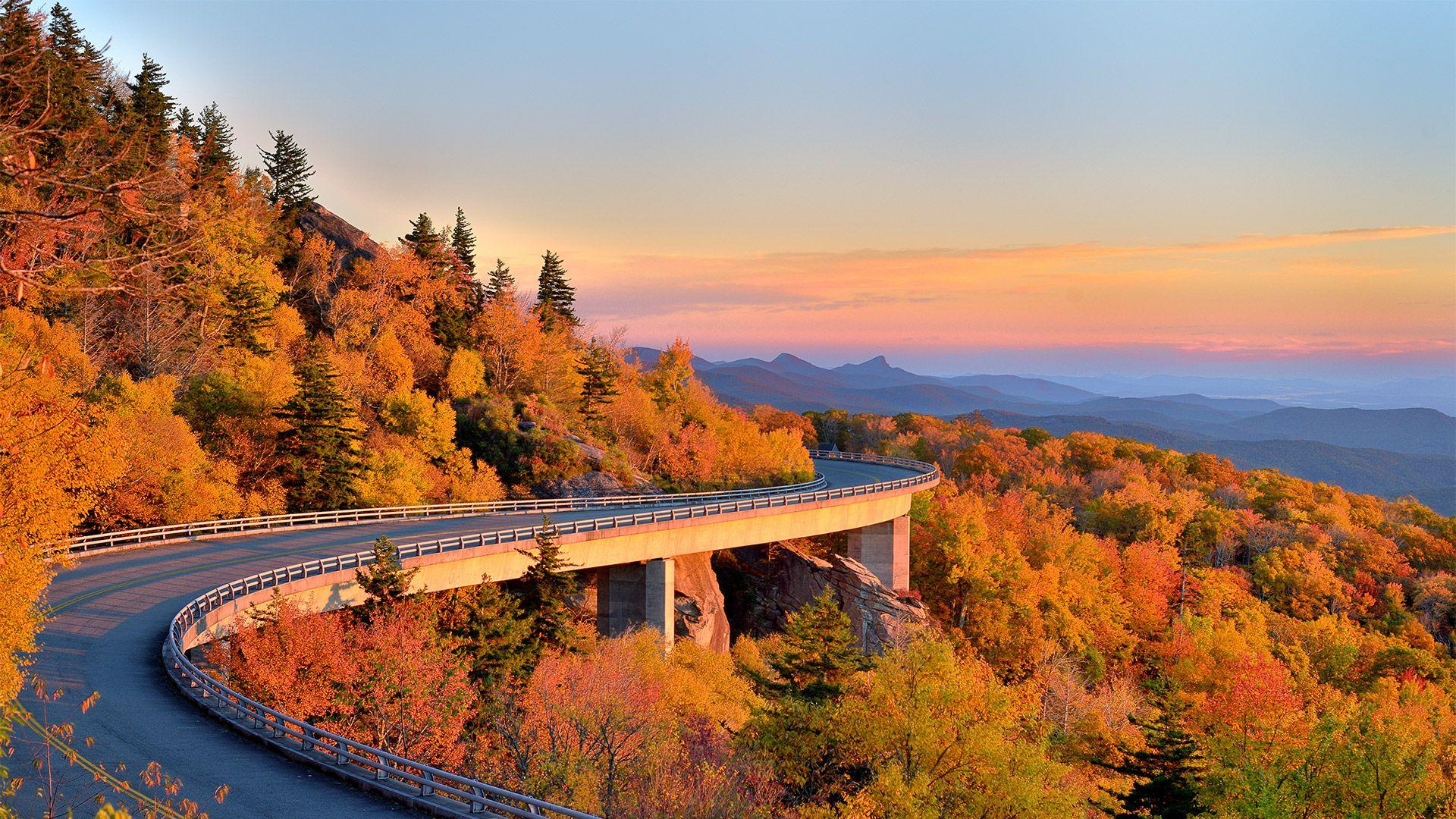 The Blue Ridge Parkway, North Carolina, US