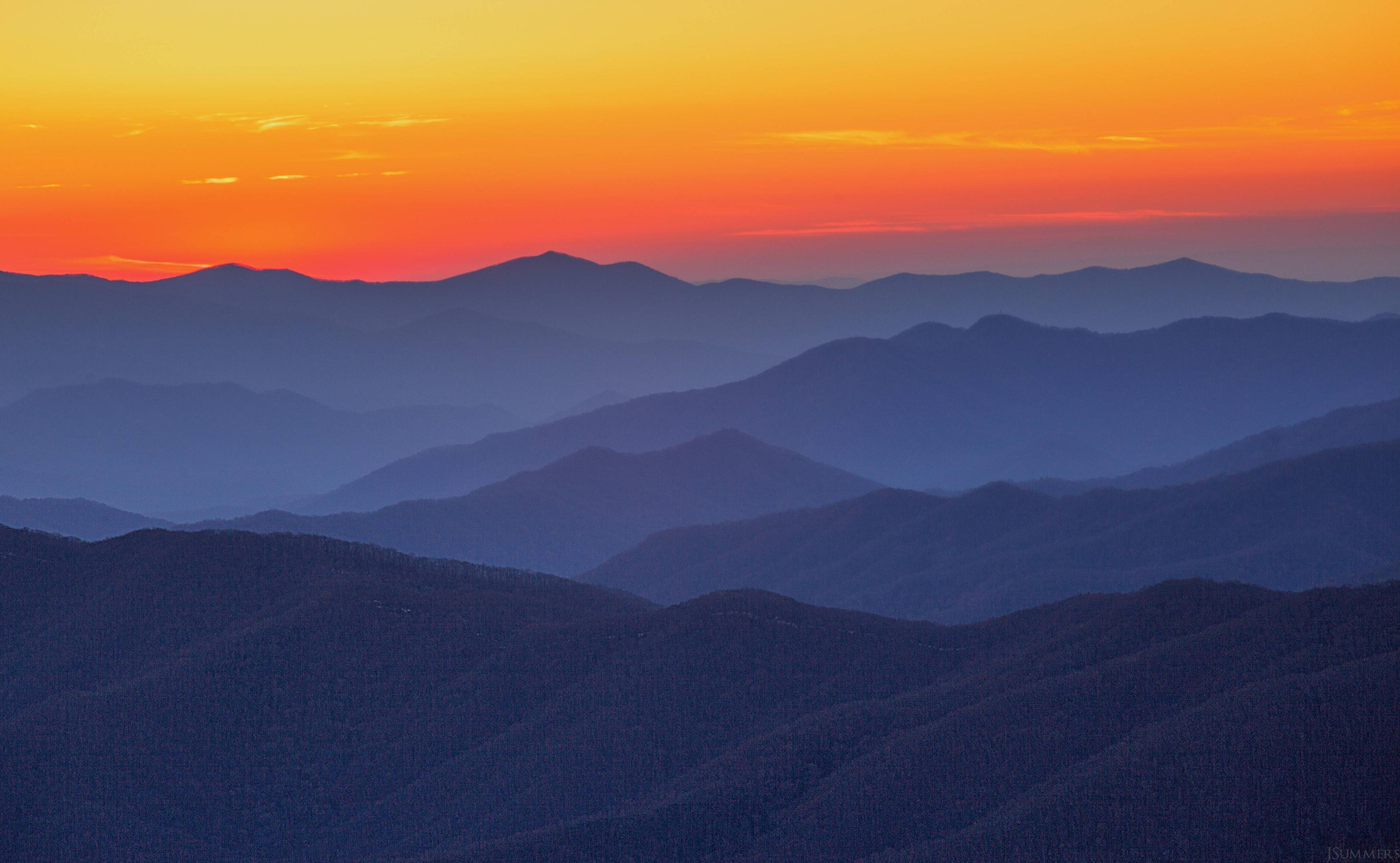 Free photo: Blue ridge mountains