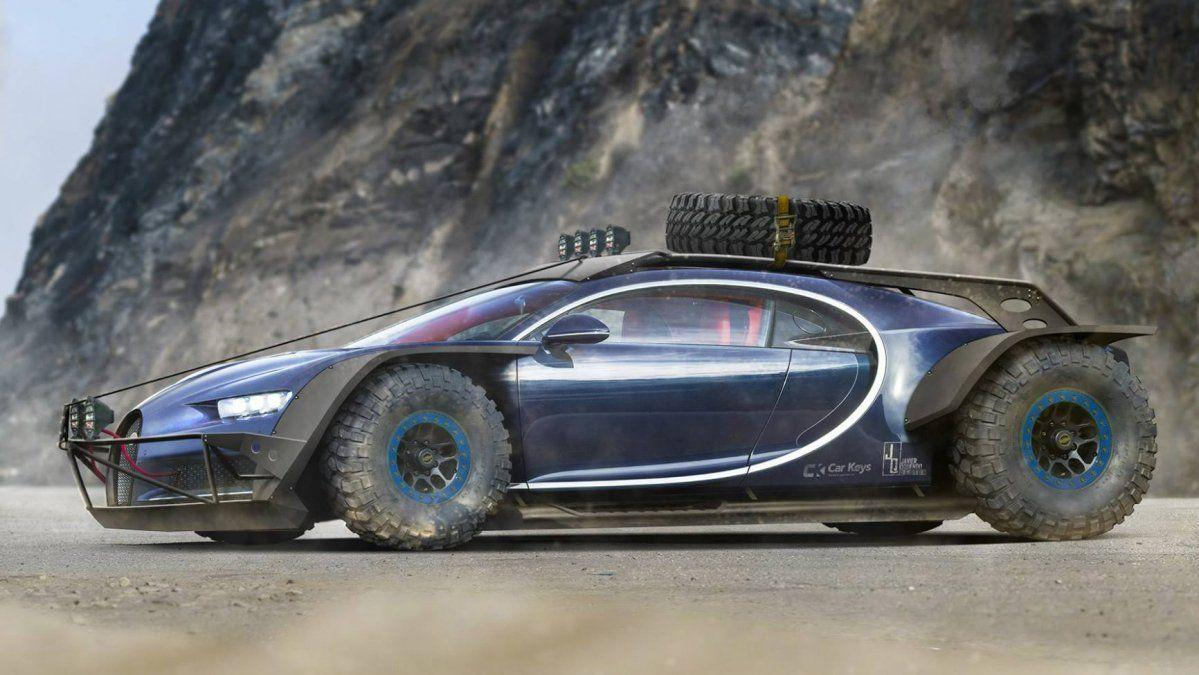 Bugatti Chiron gets Baja clothes in PhotoShop