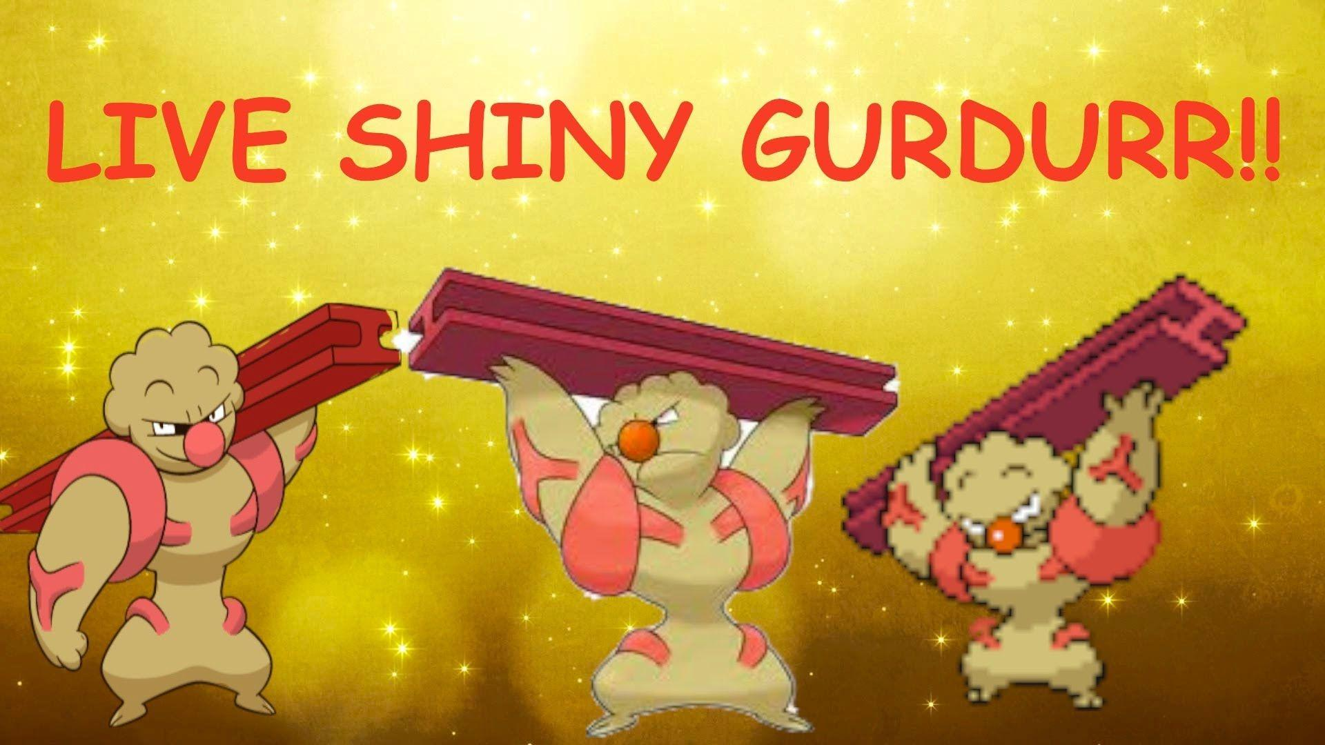 First LIVE On YouTube!!!] Shiny Gurdurr in Pokemon Y after 1,704