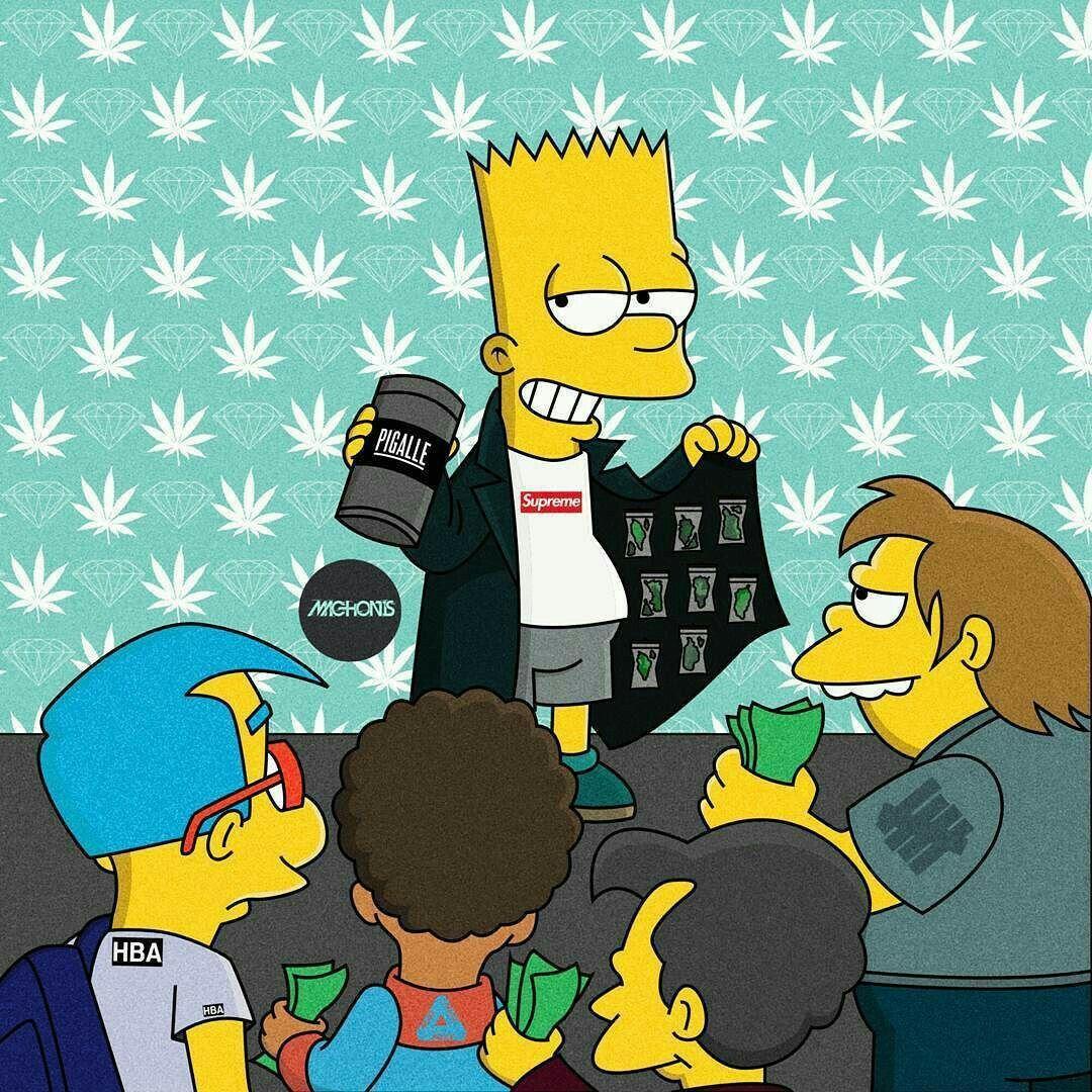 Bart Simpson Supreme Wallpapers Wallpaper Cave