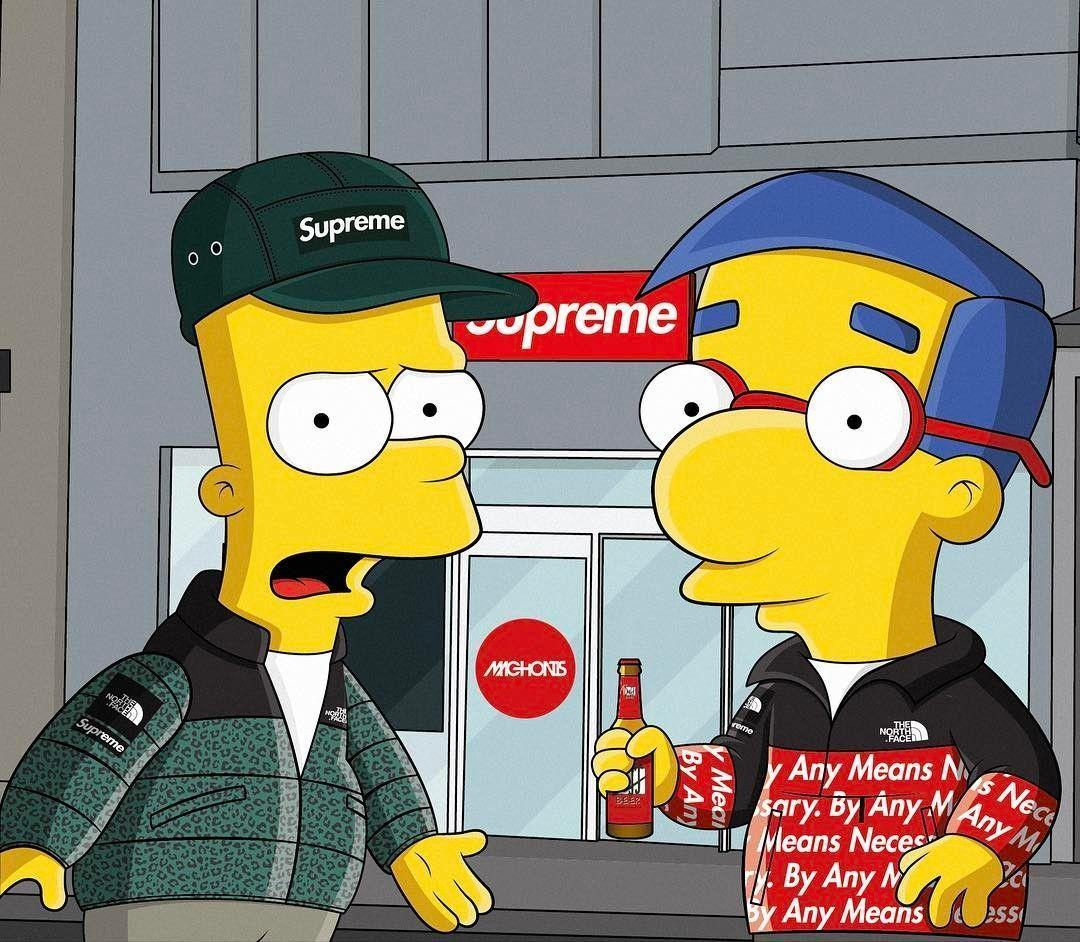 Bart Simpson Supreme Wallpapers Wallpaper Cave