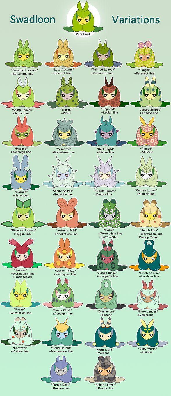 Swadloon Breeding Variations by MegaQuagsire